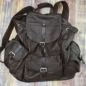 Large Unisex Leather BackPack